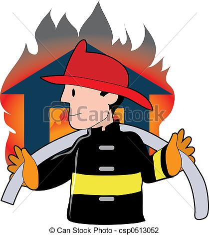 419x470 Firefighter Clipart House