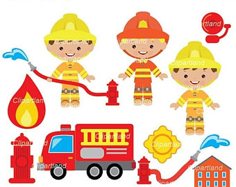 340x270 Firemen Clipart Etsy