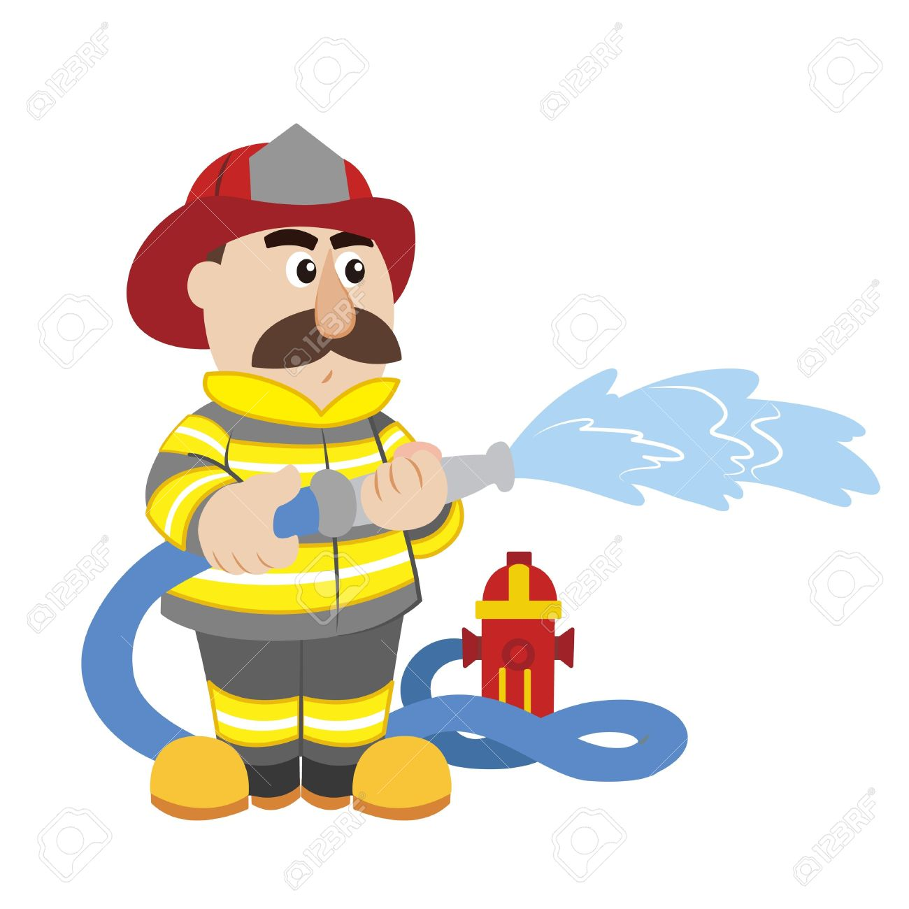 Firefighting Clipart