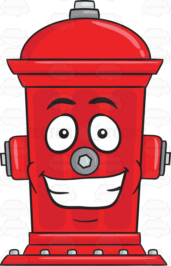 660x1024 Fire Hydrant With Big Grin On Face Emoji Vector Clipart