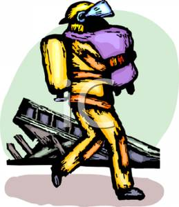 259x300 Firefighter Carrying A Fire Victim