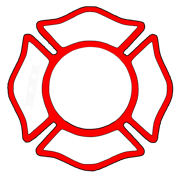 600x596 Firefighter Cross Clipart