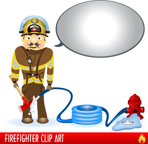 482x471 Firefighter Firefighting Tool Design Free Vector Download (1,492