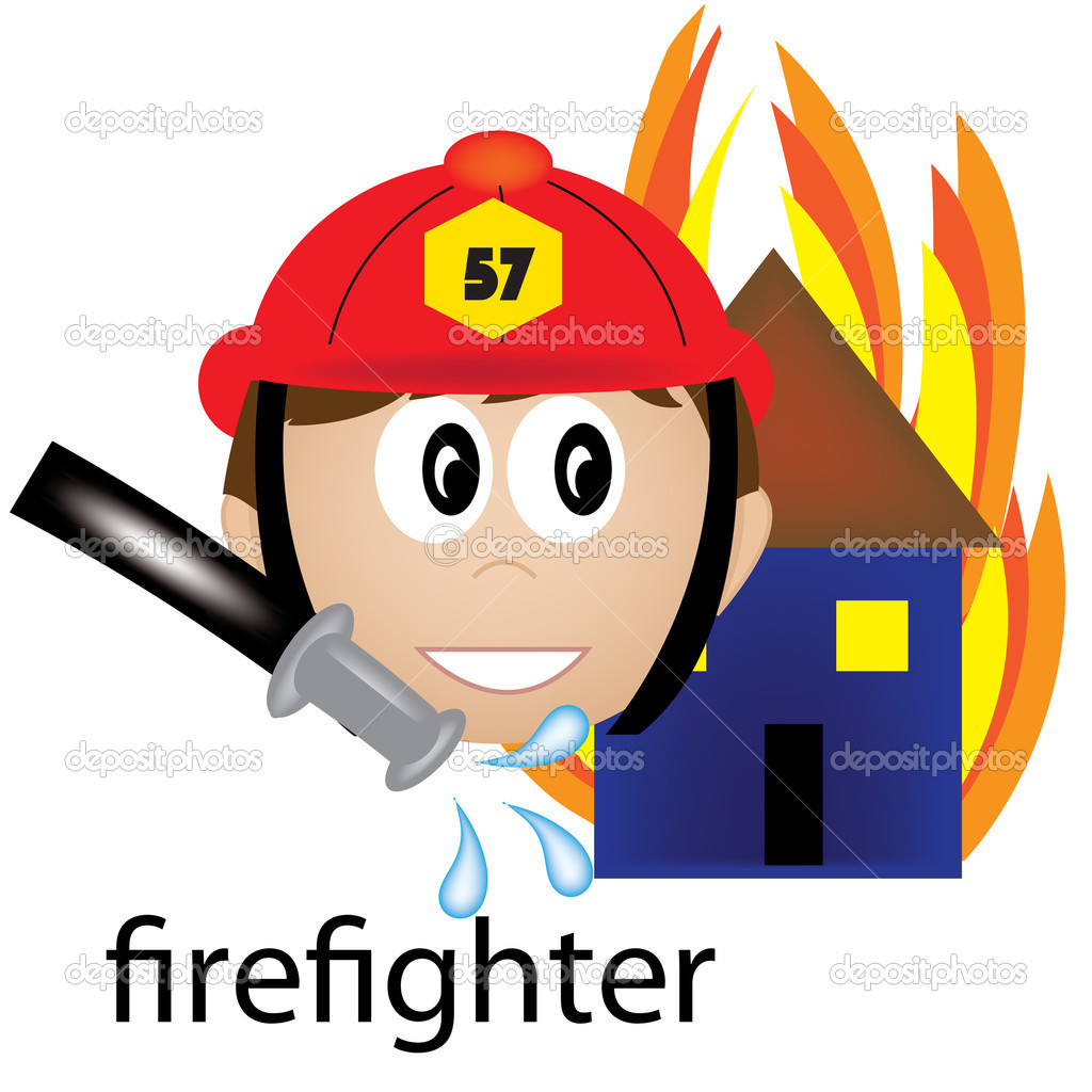1024x1024 Firefighting Job Clipart
