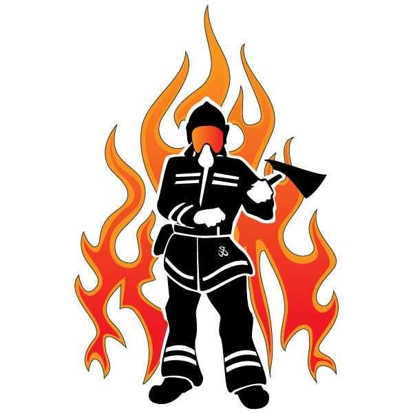 600x600 Firefighter Silhouette Clip Art Clipart Panda
