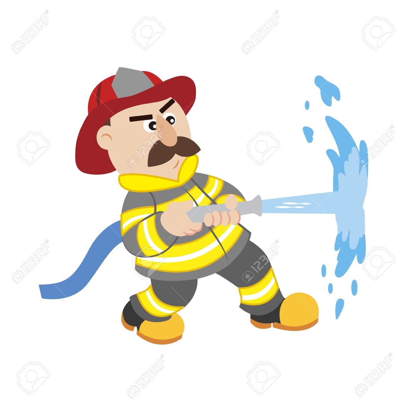 1300x1300 Firefighter Work Clipart