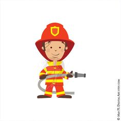 236x236 Fire Fighter Boys Clipart. Cute Fireman, Fire Truck, Hose, Fire