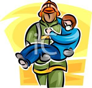 300x286 Fireman Carrying A Fire Victim