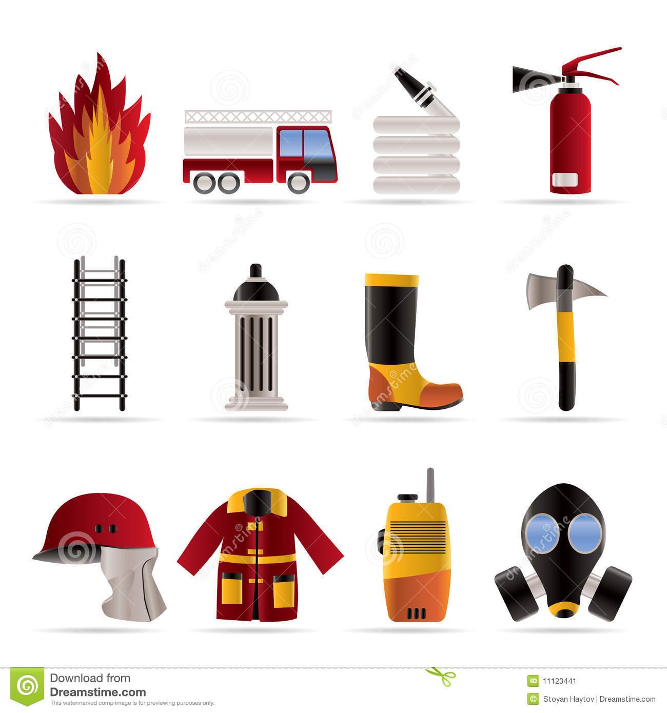 1300x1390 Fireman Tools Clipart