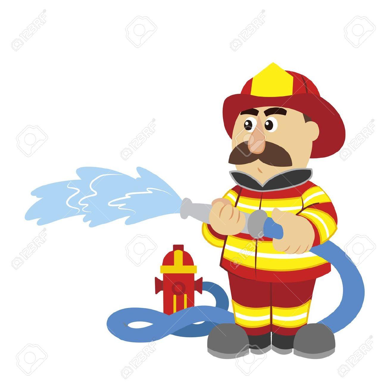 1300x1300 Fireman Cartoon Clipart