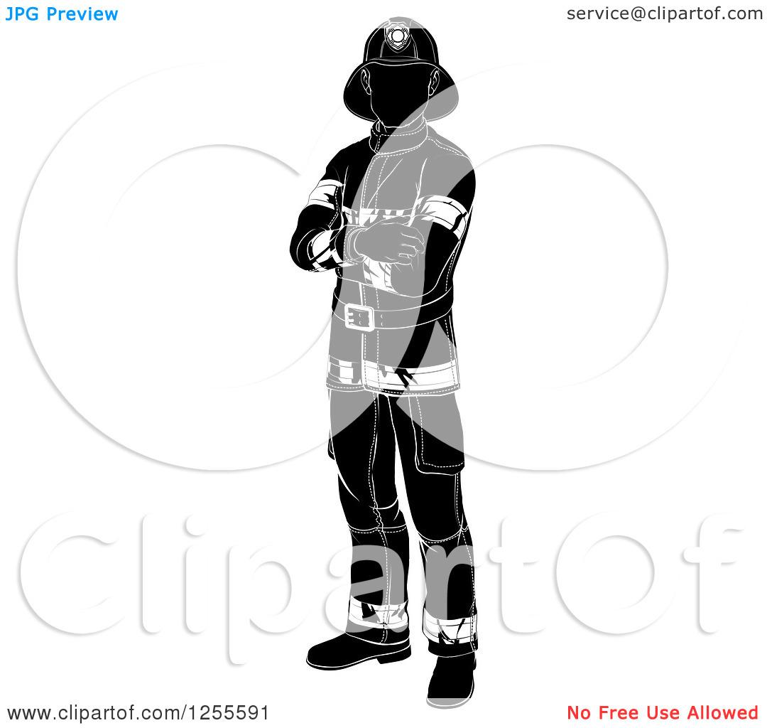 1080x1024 Fireman Clipart Silhouette