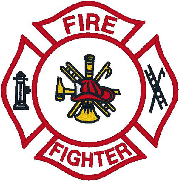 600x605 Fireman Shield Clip Art