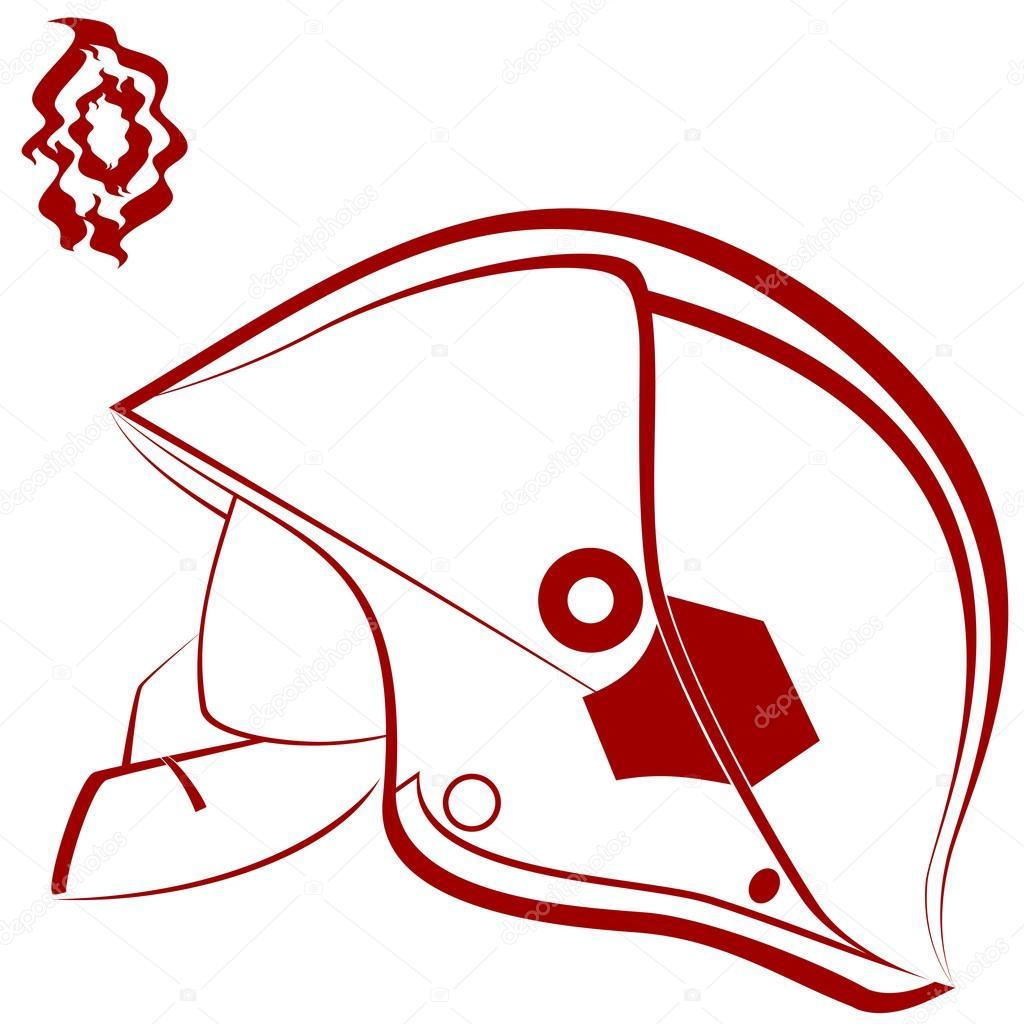 1024x1024 Fireman Helmet Stock Vector Guarding
