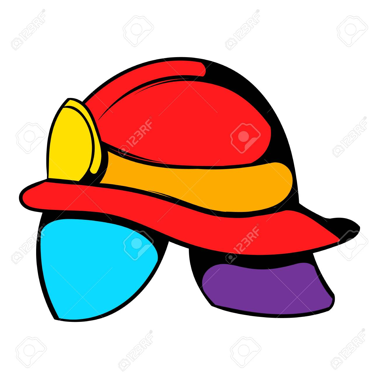 1300x1300 Helmet For A Firefighter Icon, Icon Cartoon Royalty Free Cliparts