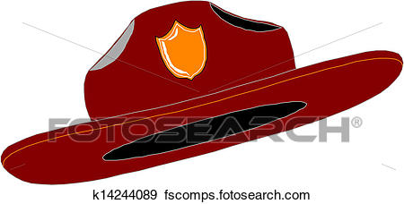 450x228 Clip Art Of Red Fire Fighter Fireman Helmet Hat K14244089
