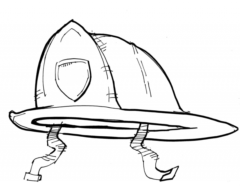 800x622 Download Firefighter Hat Coloring Page