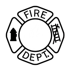 250x250 Firefighter Badge Clipart