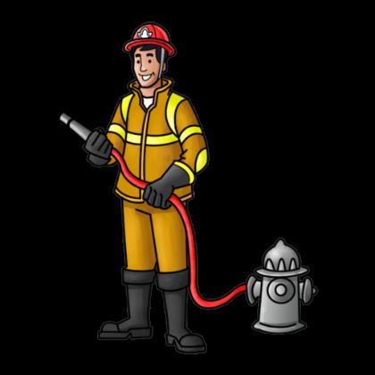 420x420 Indian Fireman Clipart