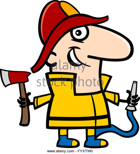 492x540 Cartoon Fireman Stock Photos Amp Cartoon Fireman Stock Images