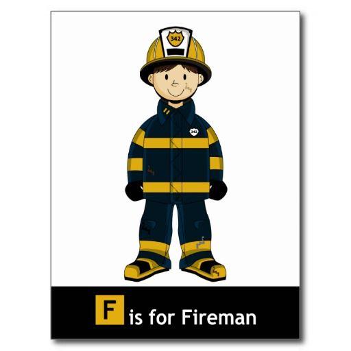 512x512 F Is For Fireman Postcard Fireman Printables Firemen