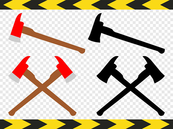 570x425 Firefighter Axe Svg Fireman Axe Clipart Crossed Axes Cut Files