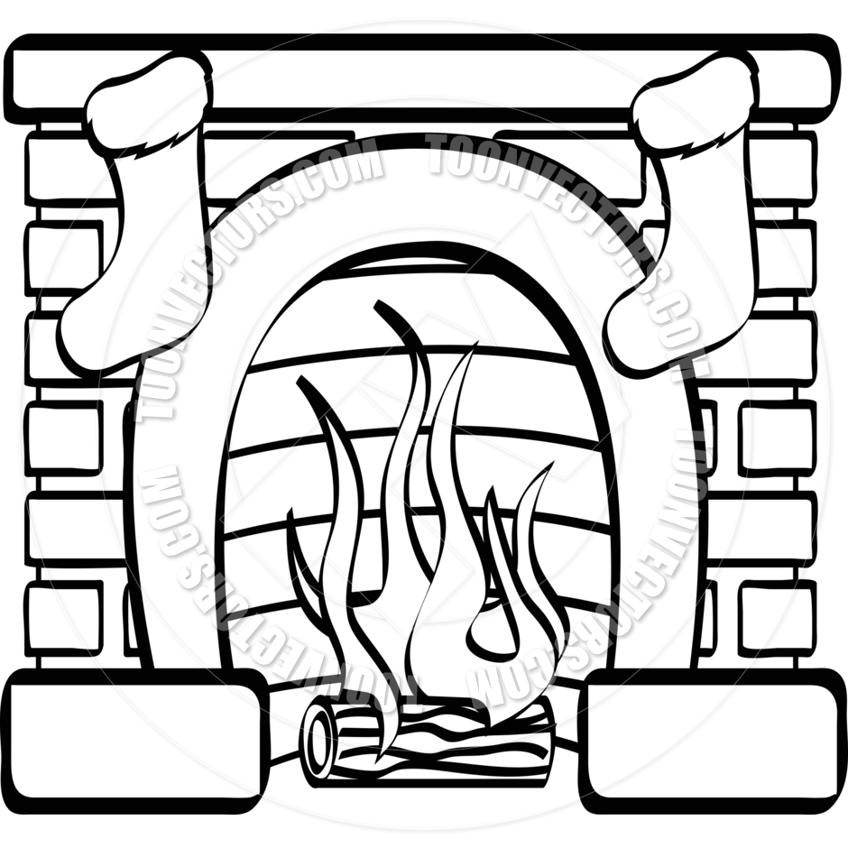 fireplace clipart images