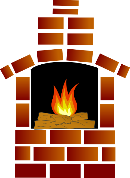 432x592 Brick Oven With Firewood And Flames Clip Art