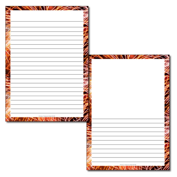 600x600 Fireworks Borderwriting Frame (Narrow Lines)