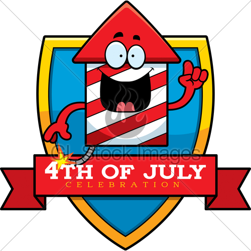 500x500 Cartoon Fireworks Graphic Gl Stock Images