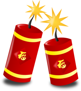 267x299 Chinese Fireworks Clip Art
