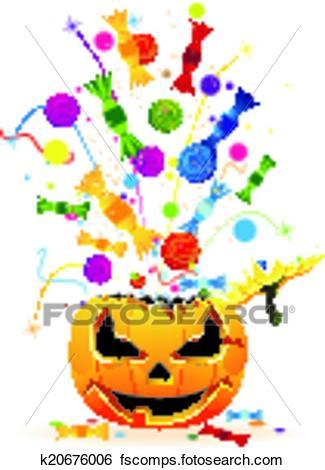 325x470 Clip Art Of Halloween Fireworks K20676006