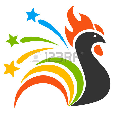 450x450 Fireworks Rooster Pictograph With Bonus 2017 New Year Clip Art
