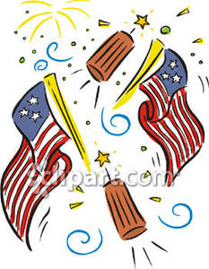 233x300 Fireworks Clipart Flag