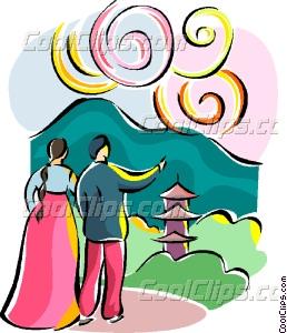 258x300 Religious Holidays Korea Vector Clip Art