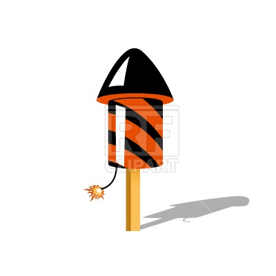 400x400 Rocket For Fireworks Free Vector Clip Art Image