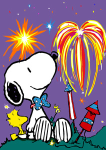 212x300 Snoopy And Woodstock Watching Fireworks Woodstock And Snoopy