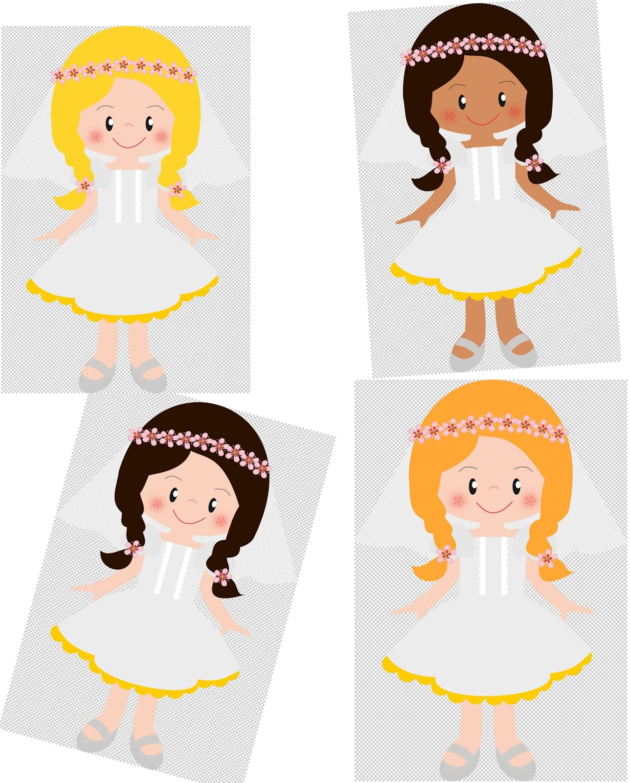 1288x1600 Girls In Their First Communion Clip Art. Oh My First Communion!