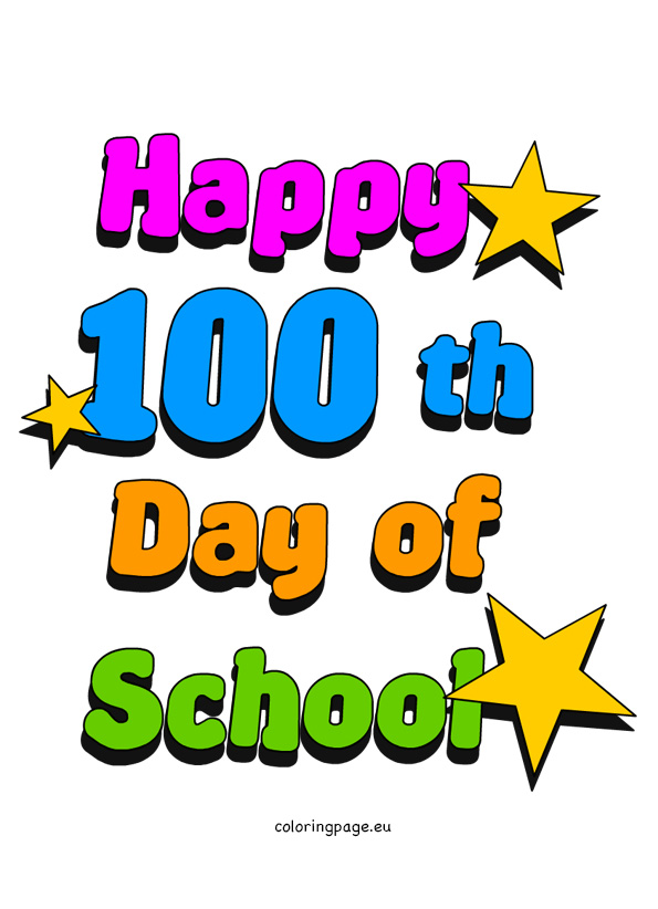 595x822 100 Day Of School Clipart