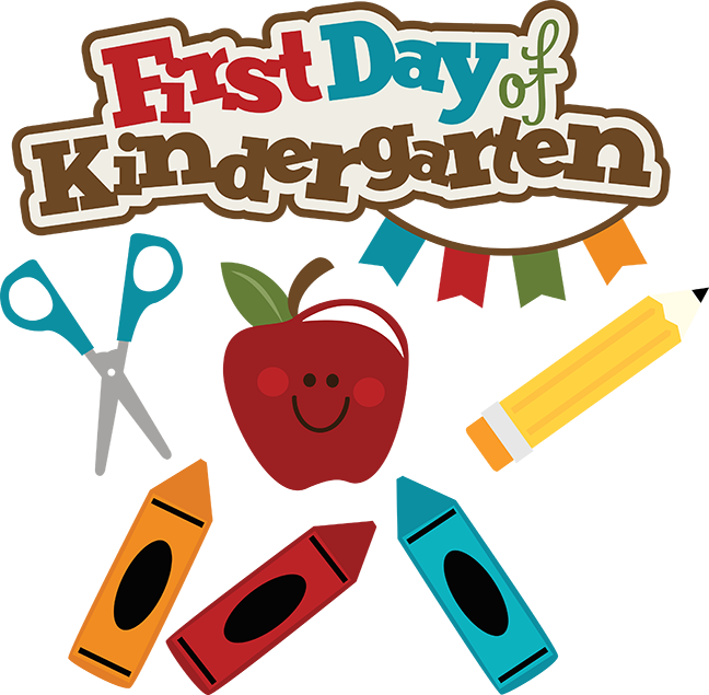 648x635 First Day Of Kindergarten Clipart