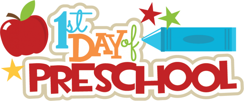 800x333 First Day Of Preschool Clipart