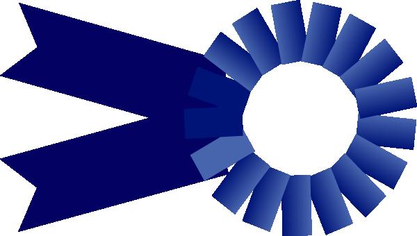 600x340 Blue Ribbon Large Clip Art