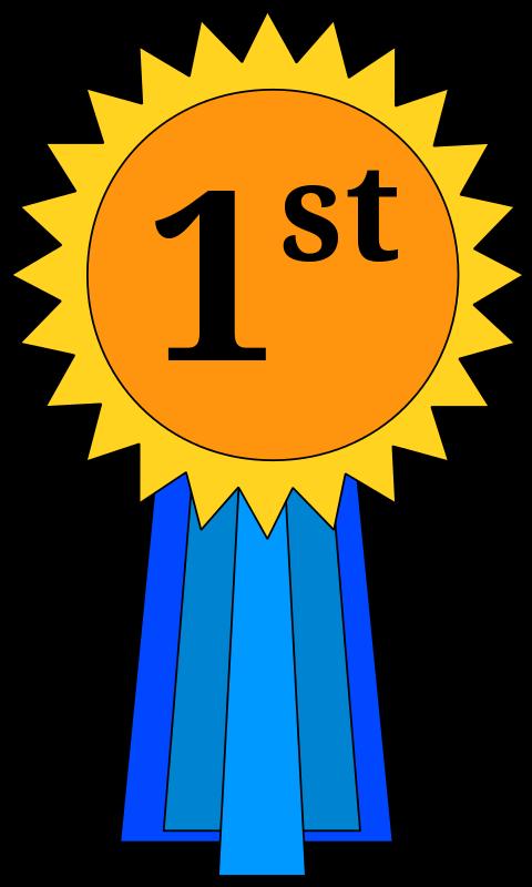 480x800 Free 1st Place Award Ribbon Clip Art