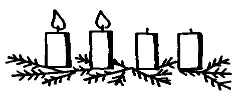 495x216 Black And White Advent Candle Clip Art Clipartfest