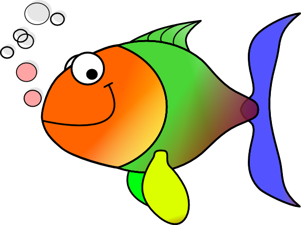 600x449 Comic Fish Clip Art
