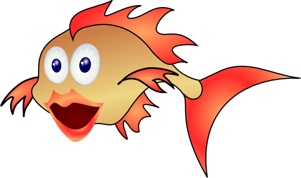 600x354 Fins Clipart Happy Fish