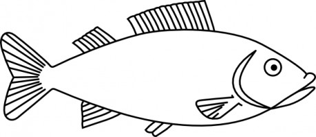 459x200 Fish black and white fish clipart black and white 3