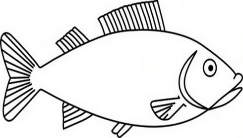 490x280 Fish black and white fish outline clipart black and white