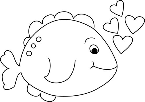 500x352 Fish black and white fishing clipart black and white logo