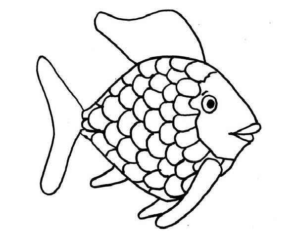 600x468 Fish Black And White Rainbow Fish Clipart Black And White 2