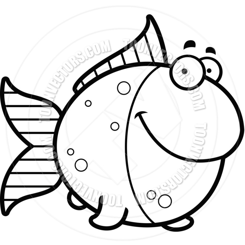 830x830 Best Fish Clipart Black And White